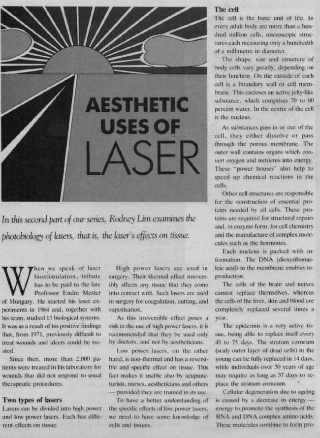 aesthetic uses of laser